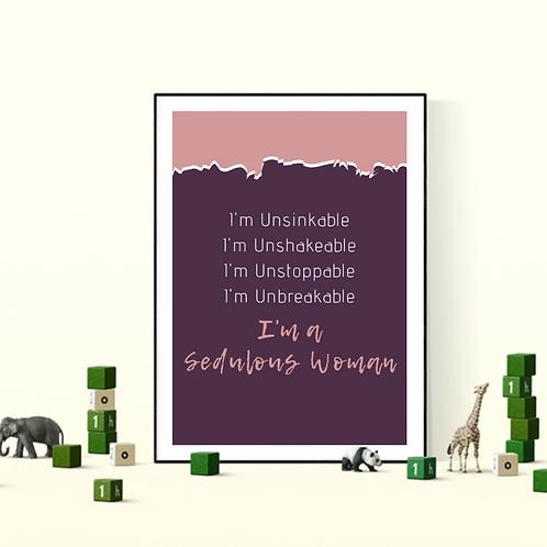 I'M UNSINKABLE wall decor (Framed)