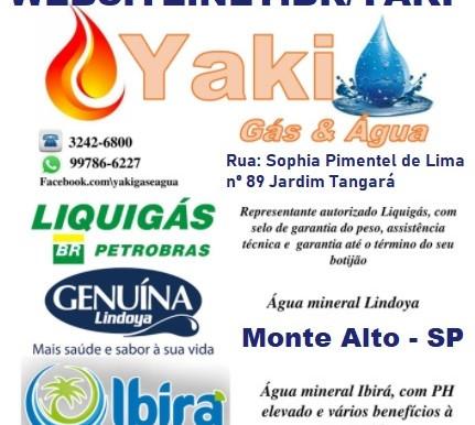 yaki gás & água