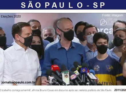 BRUNO COVAS SE REELEGE EM SÃO PAULO