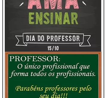 15 de Outubro Dia do Professor