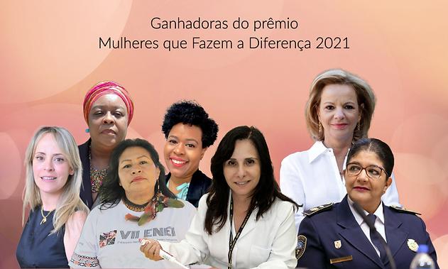 Jornal da Mulher - imag ganhadoras 2021.