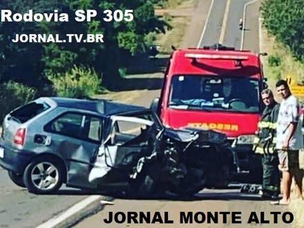 Acidente na Rodovia SP 305 Monte Alto - SP a Jaboticabal