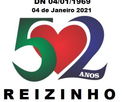 04 de Janeiro de 2021 Parabéns Reizinho pelos 52 anos Reinaldo Luis Arcandes Alves Ferreira 04/01/69