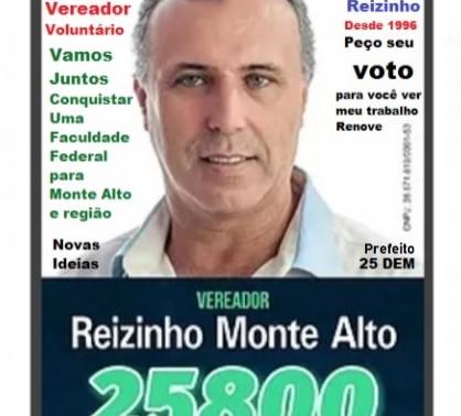 Reizinho 1º Vereador Voluntário de Monte Alto 25800 Democratas 25