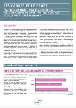 Rapport APEC les cadres et le sport