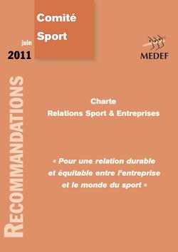 Charte sport entreprise Medef