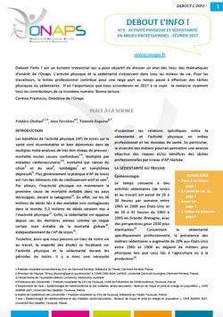 Bulletin n°3 ONAPS