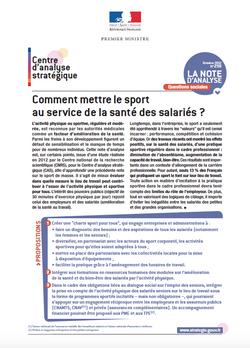 Rapport CAS sport entreprise