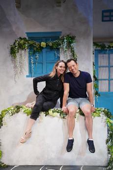 Shannon and John Tartaglia on the set