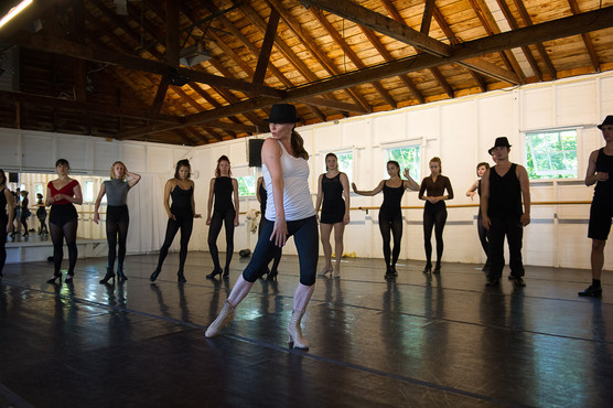 demo choreography during a work session at Jacob's Pillow