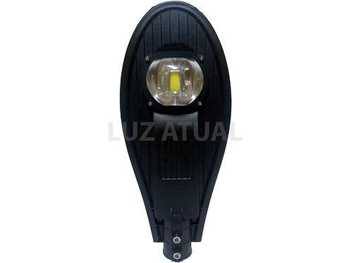 Luminária Pública Super LED 50w Branco Frio Com Base e Rele