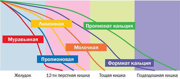 Рис. 6. Диссоциация кислот и их солей в