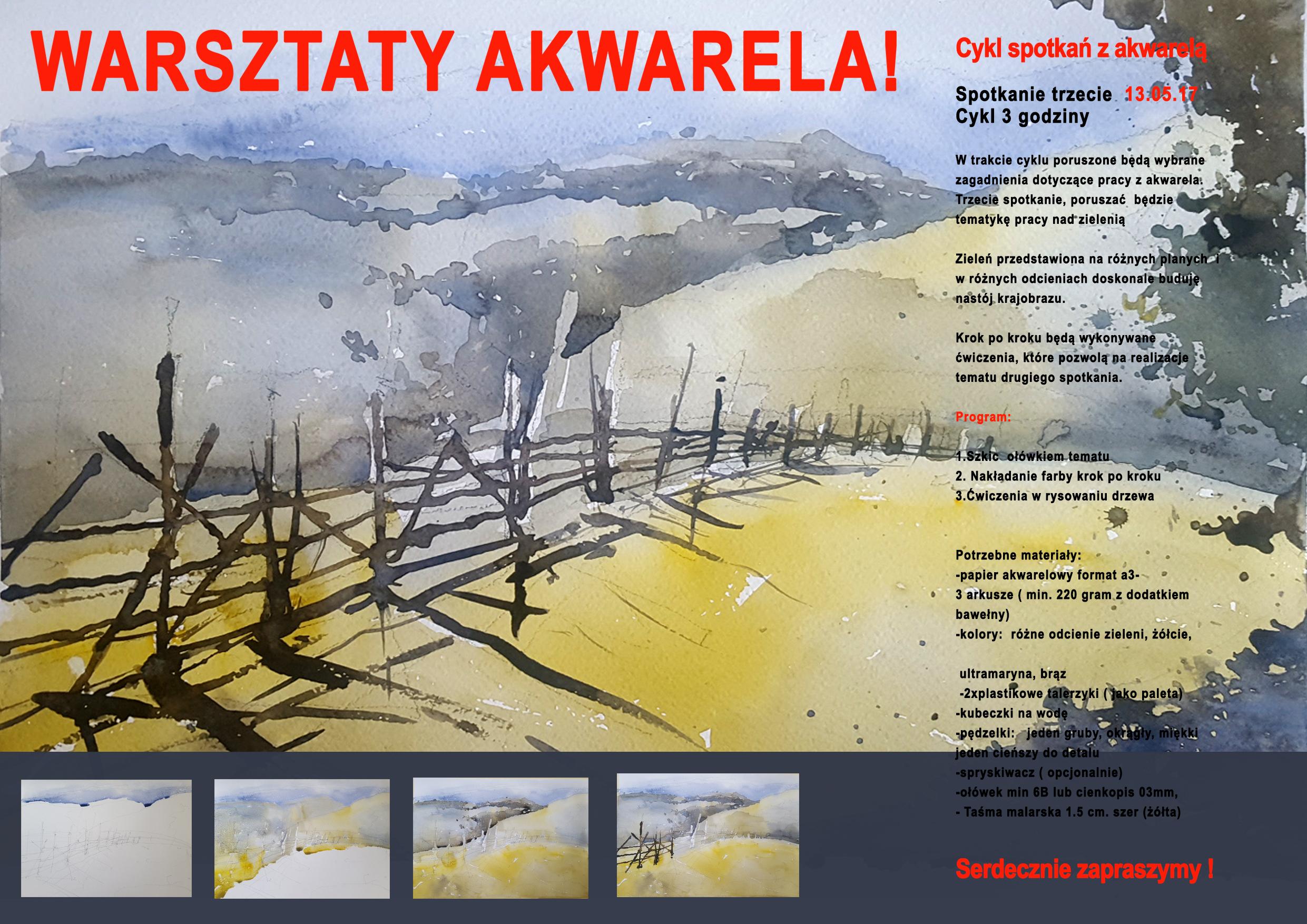 plakat spotkanie 3  akwarela gradzka