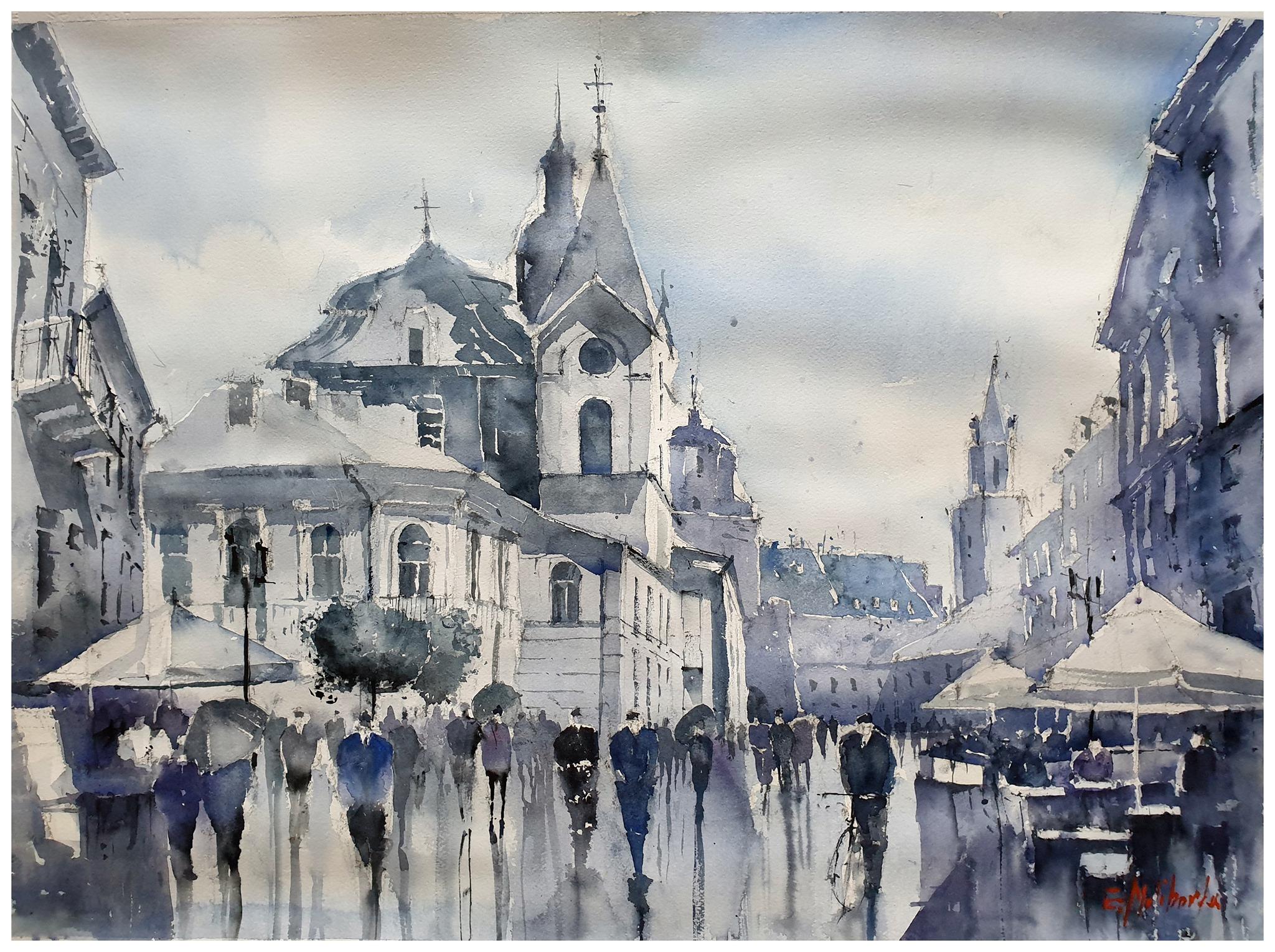 Krakowskie_Przednieście_po_deszczu