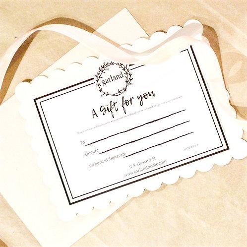 Garland Gift Certificate
