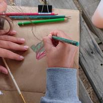 Dessin aux crayons couleur aquarellables