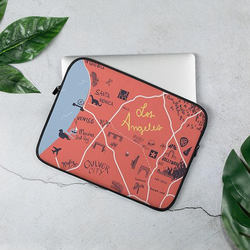 Capa para Laptop com mapa ilustrado de Los Angeles
