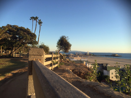 A winter day in Santa Monica