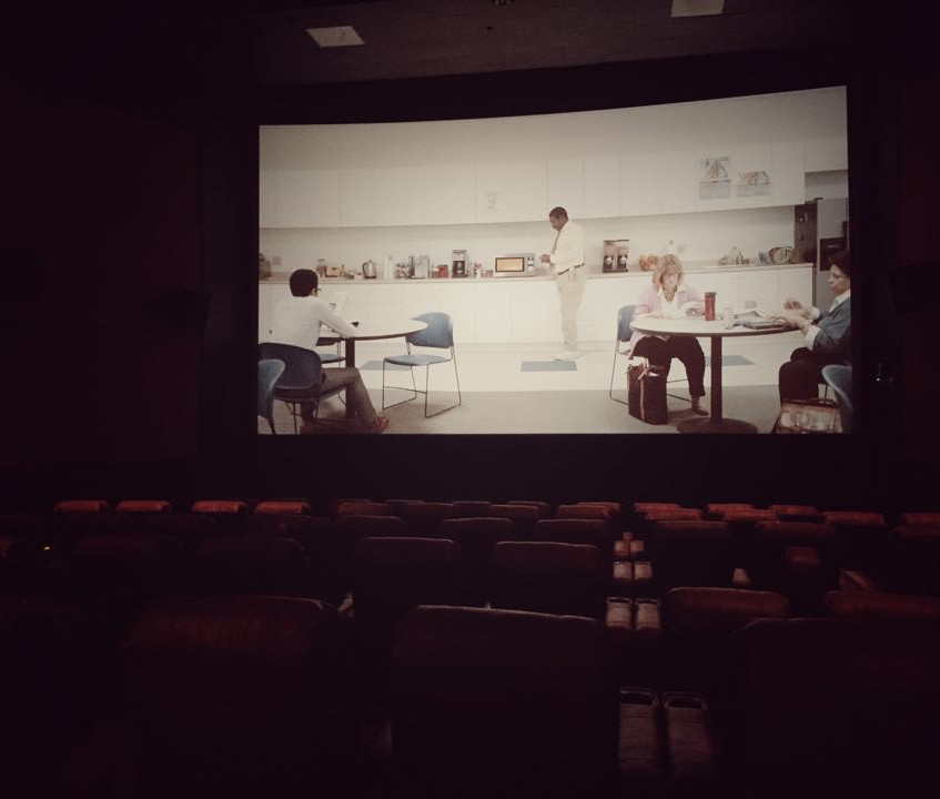 Inside the theater.