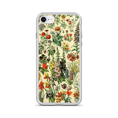 Case para iPhone com ilustração botânica vintage
