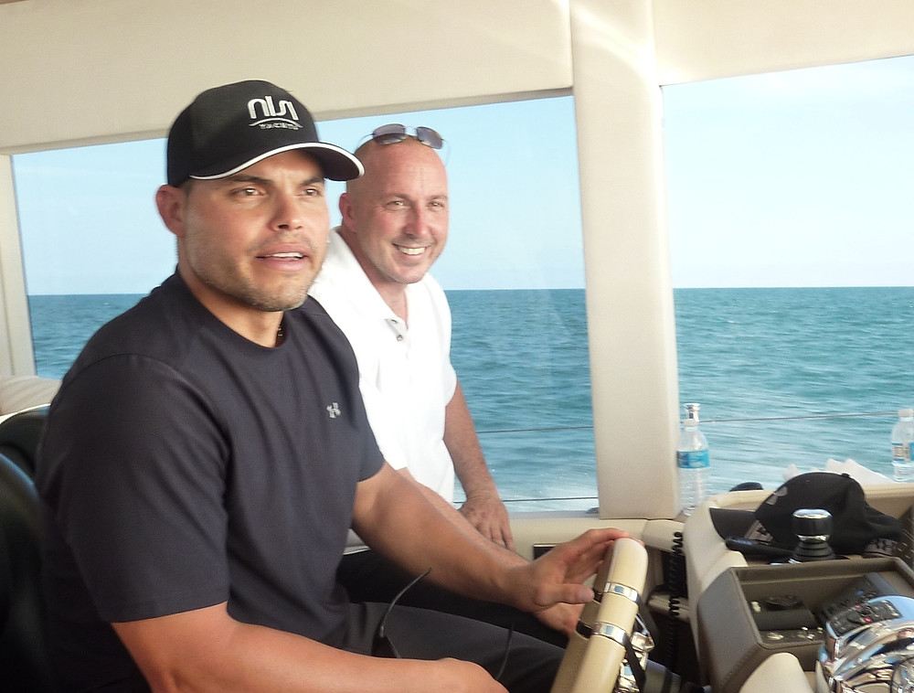 """MLB Hall Of Fame catcher Ivan """"Pudge Rodriguez at the helm of the NISI 2400"""