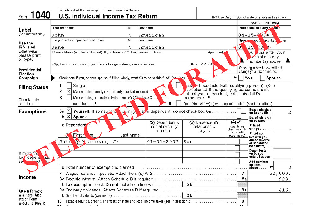 IRS Audit Form 1040