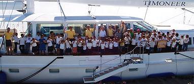 yacht donate kids