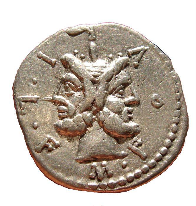 Roman Janus Head Silver Coin