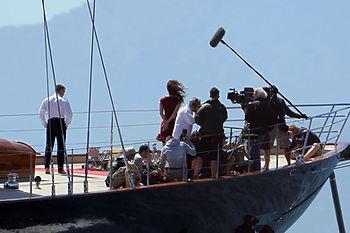 Filming James Bond on yacht
