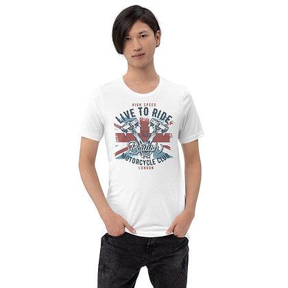 Live to ride British biker T shirt Short-Sleeve Unisex Bella Canvas 3001
