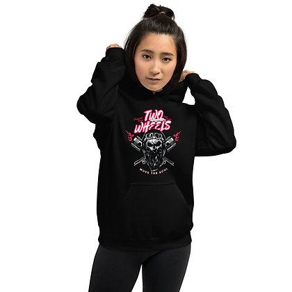 Biker girl hoodie  unisex -Two wheels biker hoodie