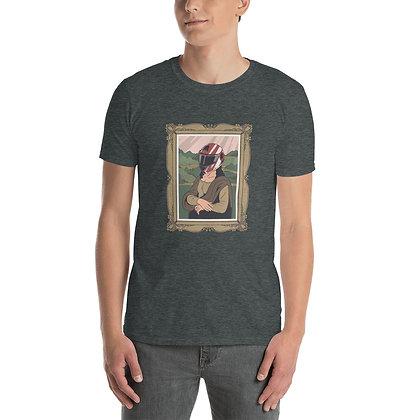 Biker MonaLisa Man T shirt Short-Sleeve Unisex