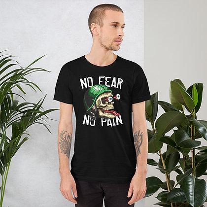 No fear no pain biker T shirt Short-Sleeve Unisex Bella Canvas 3001