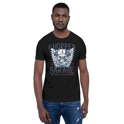 Chopper garage T shirt Short-Sleeve Unisex Bella Canvas 3001