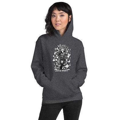 Biker girl hoodie  unisex -Dark forest
