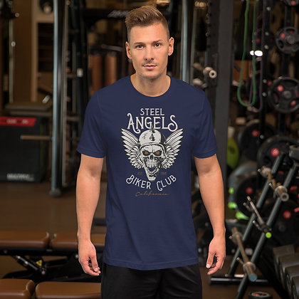 Biker club t shirt T shirt Short-Sleeve Unisex Bella Canvas 3001