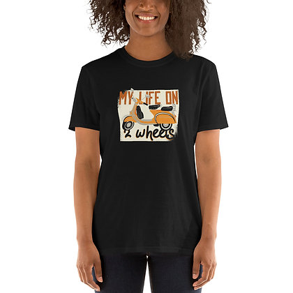 My life on two wheels Woman T shirt short-sleeve