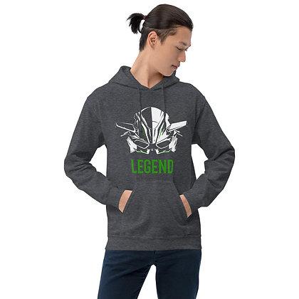 Biker hoodie  unisex-Kawasaki hoodie