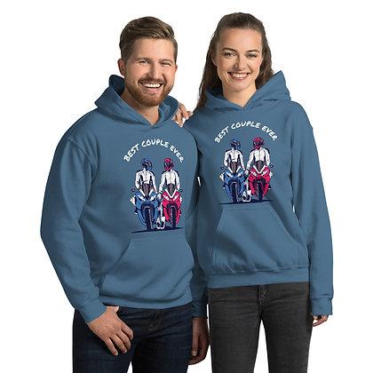 Biker girl hoodie  unisex -Best couple ever hoodie