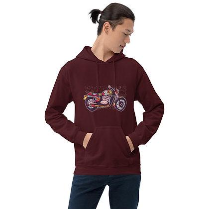 Biker hoodie  unisex -Hippie biker hoodie