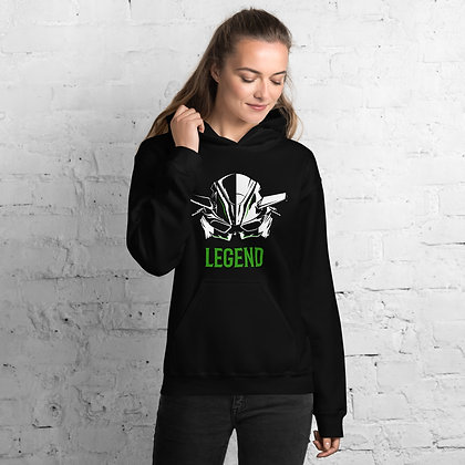 Biker girl hoodie  unisex -Kawasaki biker hoodie