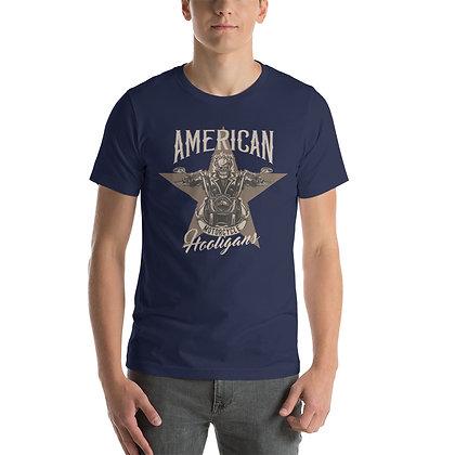 American biker T shirt Short-Sleeve Unisex Bella Canvas 3001