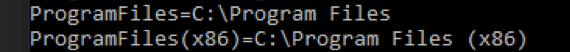 %programfiles% is unquoted C:\Program Files