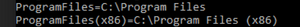 %programfiles% is unquoted C:\Program Files