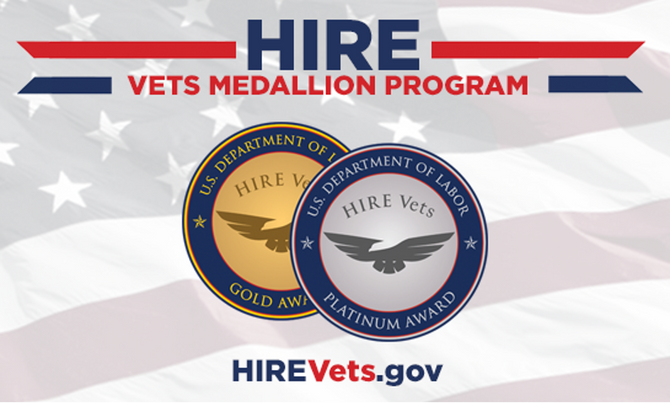 SIXGEN Awarded 2020 Platinum Medallion for Dedication to Training and Employing Veterans