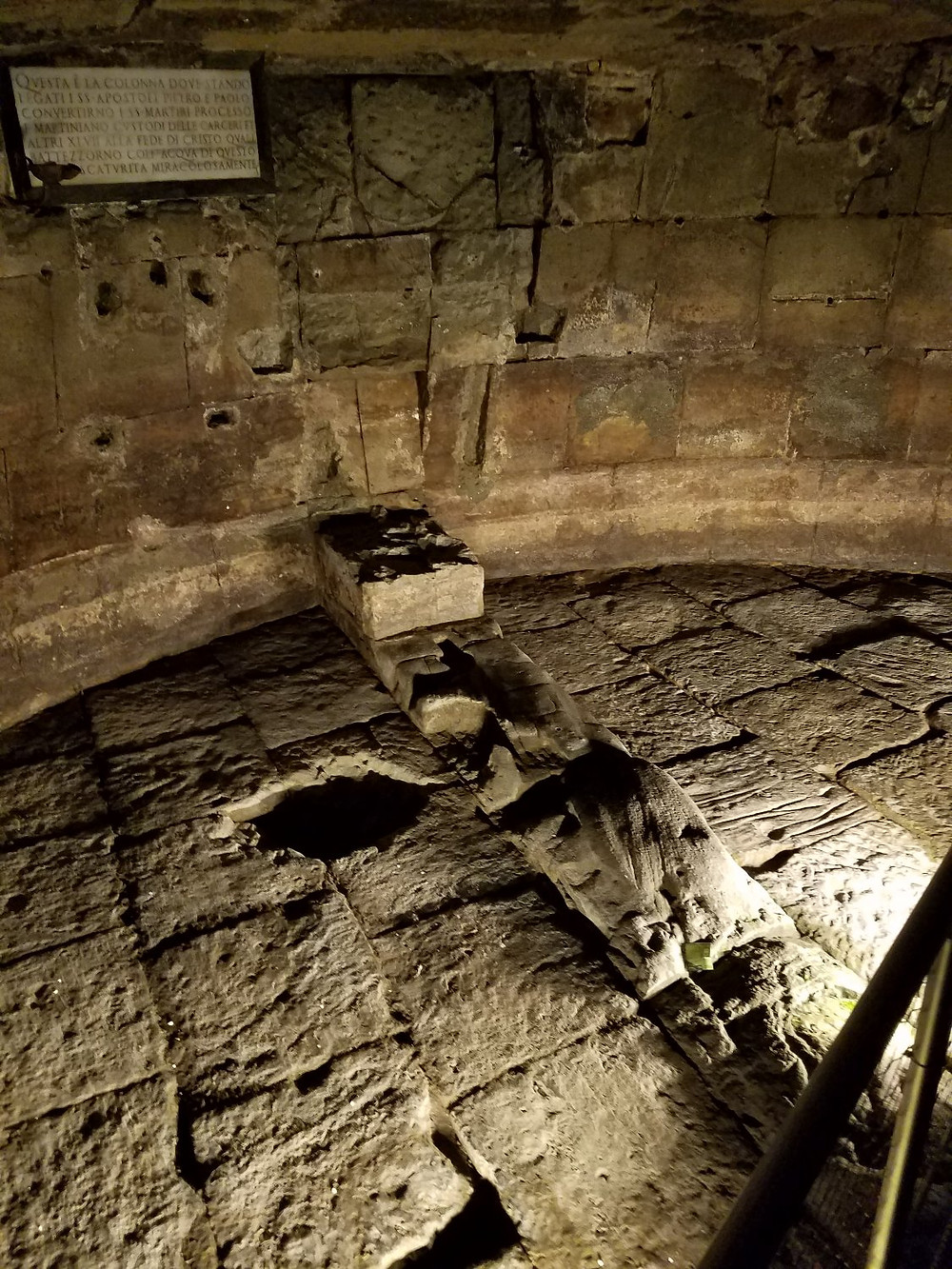 Inside Mafmertine prison in Rome where Peter and possibly Paul were imprisoned