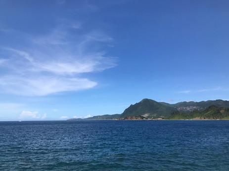 到象鼻岩可以看到九份的山景海景