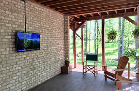 Stokesdale, NC TV install on brick wall