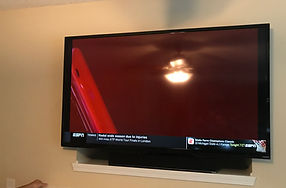 """70"""" TV over fieplace in Greensboro, NC 27455"""