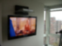 Metal stud wall TV installation  - tv mo